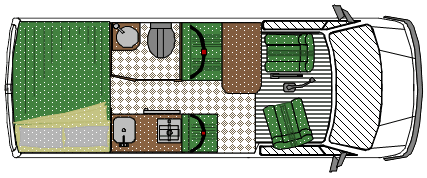 Planos mini motorhome en Renault Master mediana